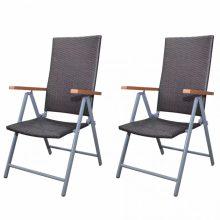 Polyrattan kerti szék szett összecsukható