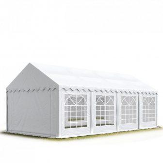 TP Professional deluxe 4x8m nehéz acélkonstrukciós rendezvénysátor erősített tetőszerkezettel