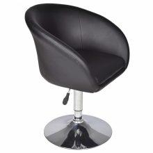 VID 1 db műbőr bárszék/fotel - fekete színben