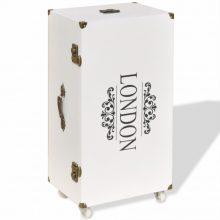 VID Bőrönd alakú kis szekrény 40x30,5x81 cm fehér