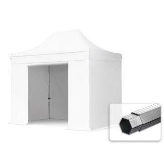 Professional összecsukható sátrak PROFESSIONAL 400g/m2 ponyvával, alumínium szerkezettel, 4 oldalfallal - 3x2m fehér
