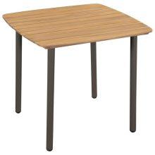 VID tömör akácfa és acél kerti asztal 80 x 80 x 72 cm