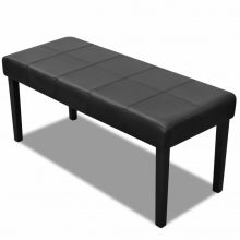 Kiváló minőségű műbőr pad fekete színben