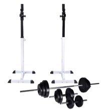 VID guggoló súlyzóállvány egykezes, kétkezes súlyzószettel 30,5 kg