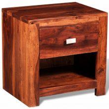 1-fiókos éjjeli szekrény tömör fából