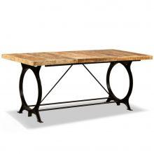 VID tömör nyers mangófa étkezőasztal 180 cm
