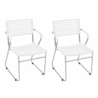 VID 2 db egymásba rakható szék fehér színben