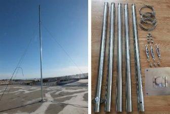 1000-1500W szélgenerátorhoz stabil cinkelt acél tartóoszlop