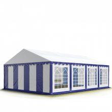 TP Professzionális 5x8 nehéz acél rendezvény sátor 500G/M2 KÉK-FEHÉR PONYVÁVAL
