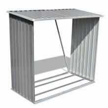 VID Horganyzott acél kerti tűzifatároló - szürke