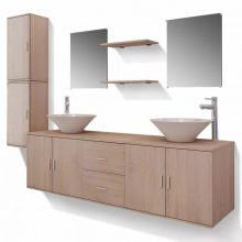 11 részes variálható fürdőszoba bútor szett csapteleppel