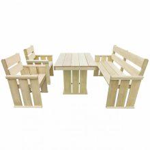 VID 4 részes impregnált fenyőfa étkezőgarnitúra 110 x 75 x 74