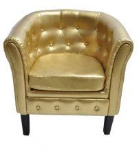 VID aranyszínű műbőr fotel