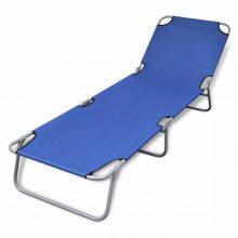 VID Összecsukható napozóágy állítható háttámlával - kék