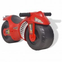 Ride-on műanyag motorkerékpár piros