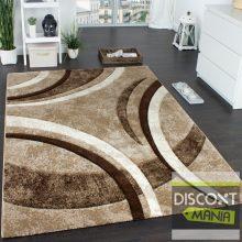 Mintás szőnyeg - modern barna-bézs mintával - 60x100 - AZONNAL RAKTÁRRÓL