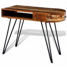 Antik hatású fa íróasztal