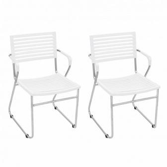VID 12 db egymásba rakható szék fehér színben