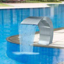 VID rozsdamentes acél vízesés medence-szökőkút 45 x 30 x 60 cm