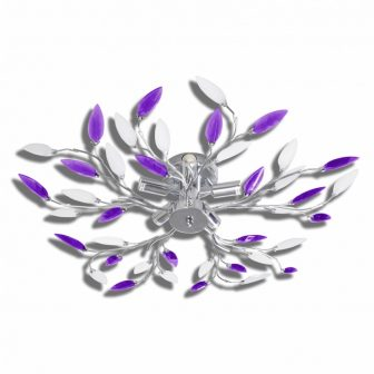 VID Átlátszó kristály mennyezeti lámpa Akril, lila színben