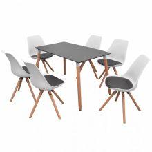 VID 7 darabos étkező szett - fekete asztallal