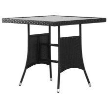 VID polyrattan kerti asztal 80 x 80 x 74 cm fekete
