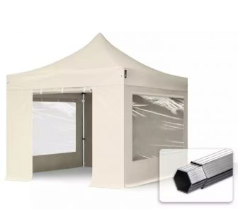 Professional összecsukható sátrak PROFESSIONAL 3x3m-400g/m2-alumínium szerkezettel-Bézs