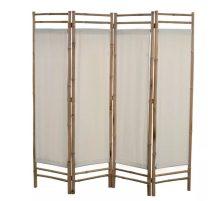VID 4 paneles bambusz/vászon paraván 160 cm