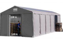 Vario raktársátor 8x12m - 3m oldalmagassággal, tetőablakkal-bejárat típusa: eltolható