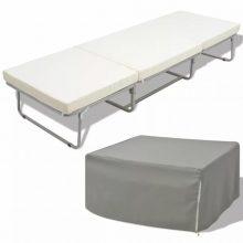 VID összecsukható ágy/zsámoly matraccal acél 200x70cm