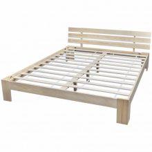 """VID Fa ágy 160x200 cm """"V8"""", ágyráccsal, tölgy színben"""