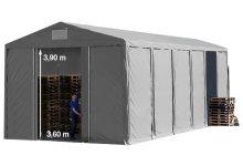 Vario raktársátor 8x12m - 4m oldalmagassággal-bejárat típusa: eltolható