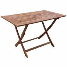 Kültéri összecsukható akácfa étkezőasztal [120 x 70 x 75 cm]