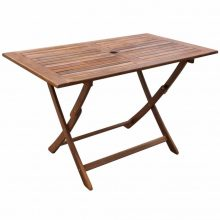 VID Kültéri összecsukható akácfa étkezőasztal [120 x 70 x 75 cm]