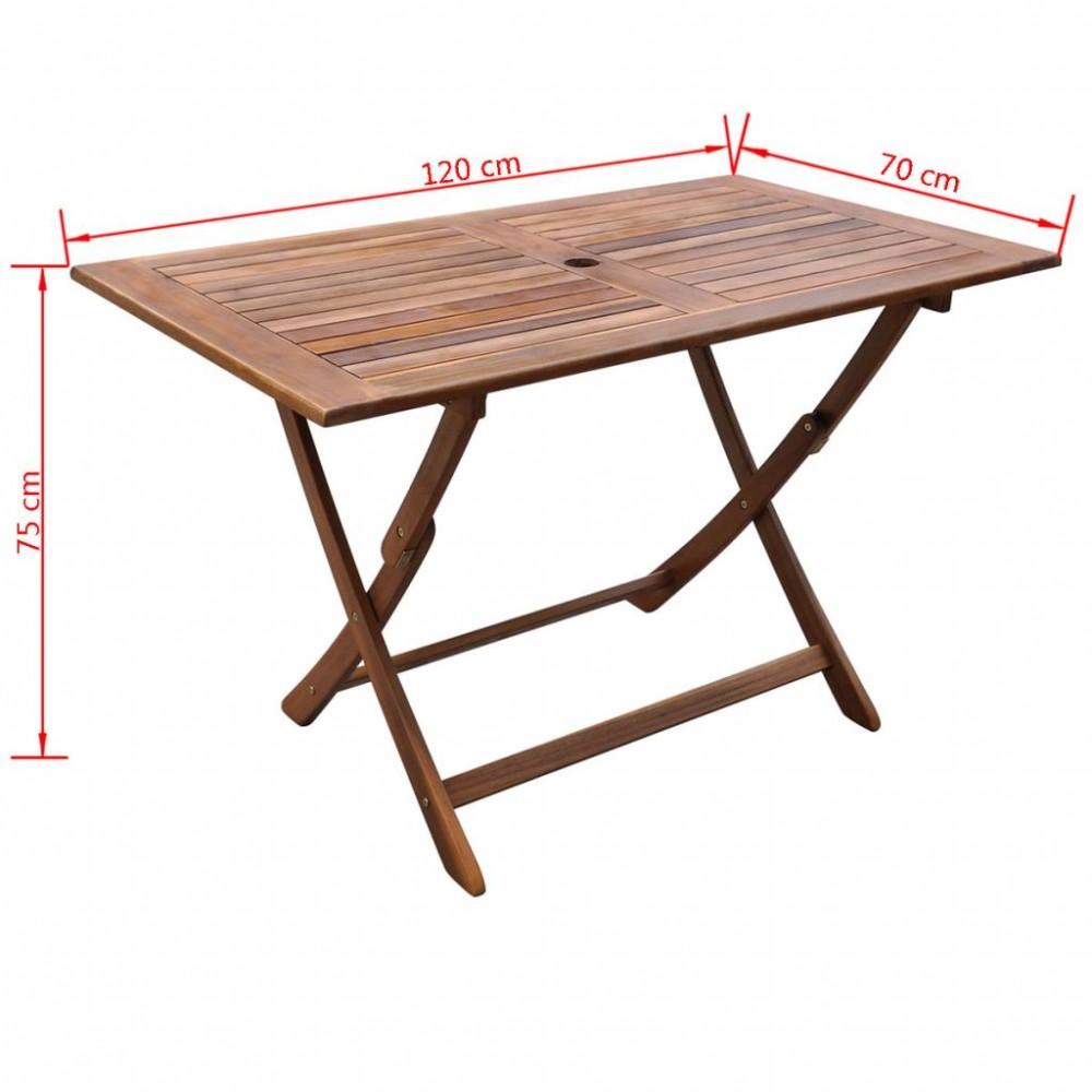 Kültéri összecsukható akácfa étkezőasztal - Discontmania.hu