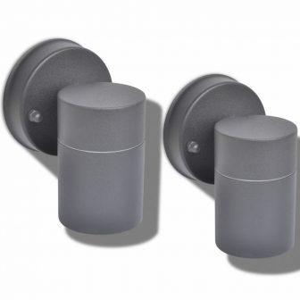 VID Lefelé világító rozsdamentes acél kültéri fali lámpa 2 db 606742