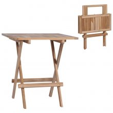 VID tíkfa összecsukható bisztró asztal 60 x 60 x 65 cm