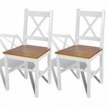 VID 2 db-os fa étkezőszék szett fehér- barna színben