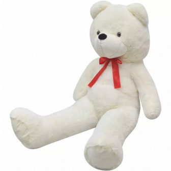 VID XXL Puha plüss maci Fehér színben 175 cm