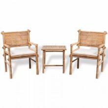 VID bambusz bisztrószett kisasztallal és párnával