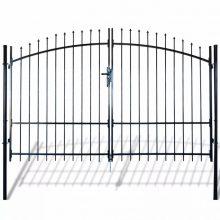 VID dupla ajtós lándzsahegy tetejű kerítéskapu 300 x 248cm