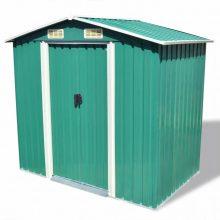 VID zöld fém kertiház tároló 204 x 132 x 186 cm