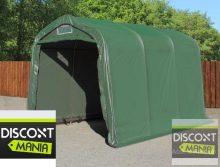Ponyvagarázs/ sátorgarázs / tároló 2,4x3,6m -PVC 550g/nm zöld színben földhöz való rögzítéssel