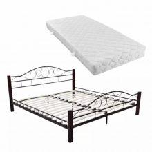 """Fém ágy 160x200 cm """"V5"""", memóriahabos matraccal"""