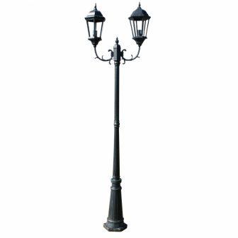 VID Kültéri Lámpa 2 karú 230 cm Sötétzöld/fekete