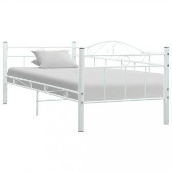 VID fehér fém ágykeret 90x200 cm