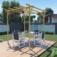 VID 2x2x2 m impregnált fenyőfa kerti pergola