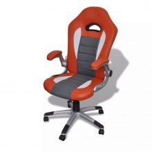 VID irodai szék mesterséges bőr narancssárga