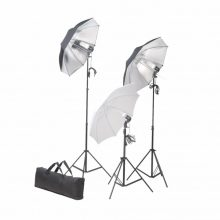 VID Stúdió felszerelés 3 ernyővel, 3 lámpával