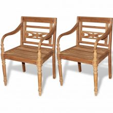 2db tíkfa Batavia kerti szék